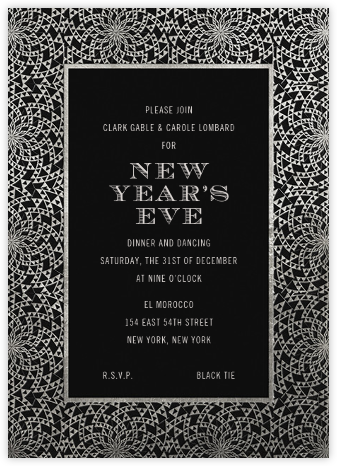 Deco Border - Pitch - Paperless Post - New Year's Eve Invitations