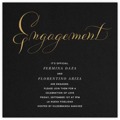 Engagement - Black   square
