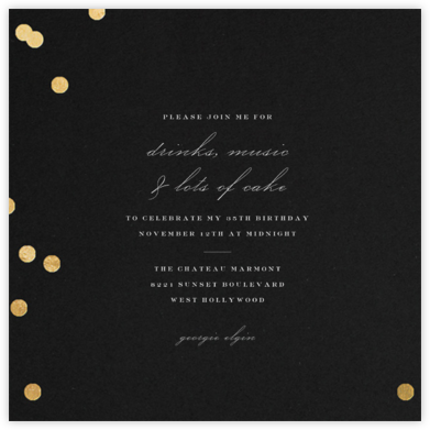 Holepunch - Black - Paperless Post - Adult Birthday Invitations