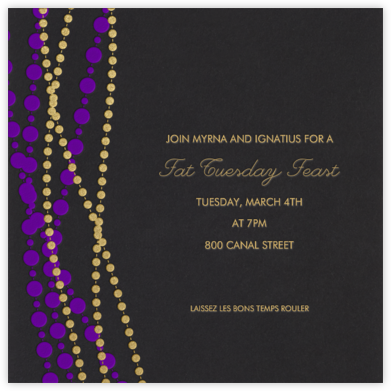 Mardi Gras Beads - Pitch - Paperless Post - Invitations