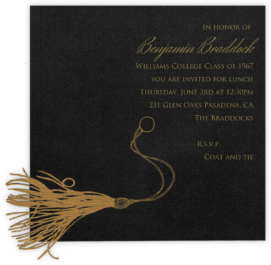 Mortar Board (Gold) - Paperless Post - Graduation Party Invitations