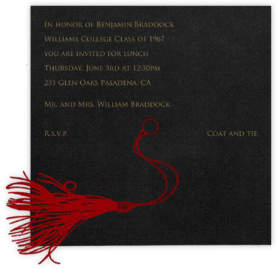 Mortar Board (Red) - Paperless Post - Celebration invitations