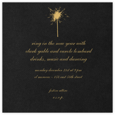 Pitch (square) - Paperless Post - New Year's Eve Invitations
