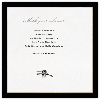 Oro (Black) - Paperless Post - Invitations