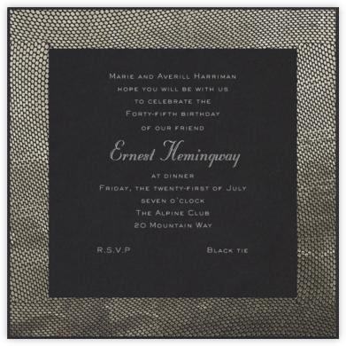 Snakeskin (Silver) - Paperless Post - Adult Birthday Invitations