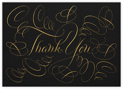 Thank You - Black - Bernard Maisner - Bernard Maisner Invitations