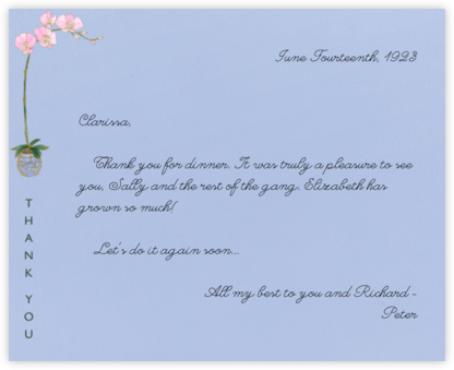 Orchid Thank You (Powder Blue) - Paperless Post - General thank you notes