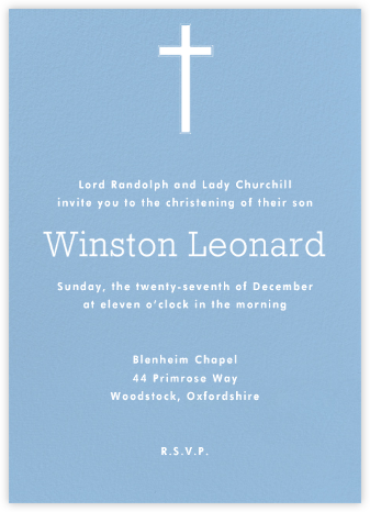 Spring Rain - Paperless Post - Christening Invitations