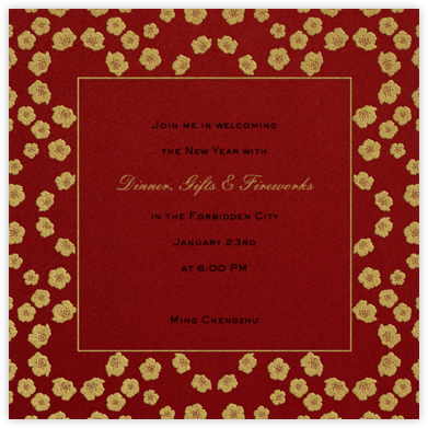 Peach Blossoms - Paperless Post - Lunar New Year Invitations