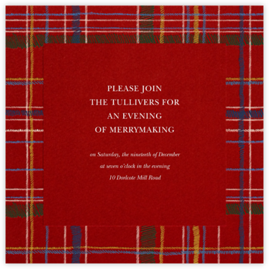Contemporary Plaid (Square) - Paperless Post - Invitations