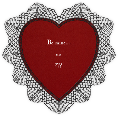 Lace Heart (Black Red) - Paperless Post -