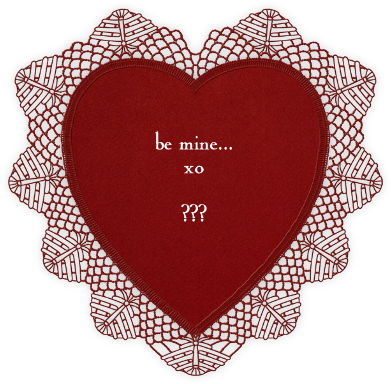 Lace Heart (Red) - Paperless Post -
