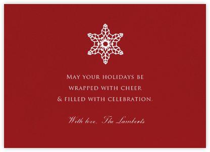 Crimson - Paperless Post - Holiday Cards