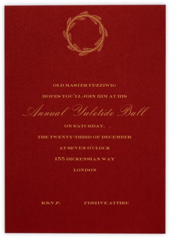 Cardinal (Tall) - Paperless Post - Holiday invitations