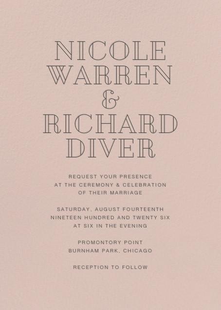 Antique Pink (Invitation) - Paperless Post - Modern wedding invitations