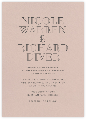 Antique Pink (Invitation) - Paperless Post - Wedding Invitations