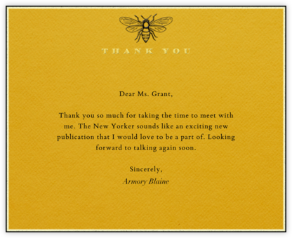 Bee Thank You - Saffron - Paperless Post