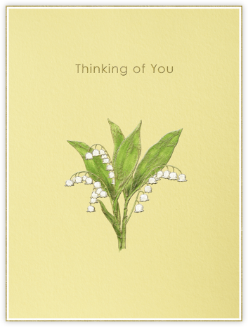 Lily of The Valley - Thinking of You (Pale Yellow) - Paperless Post -