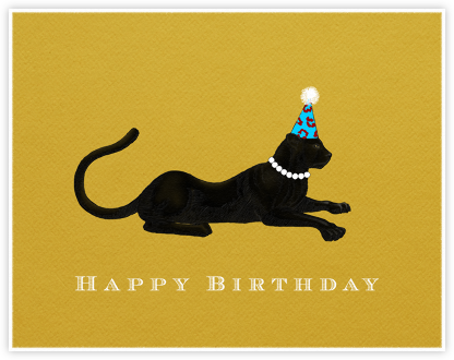 Panther Birthday (Bright Yellow) - Paperless Post - Online greeting cards