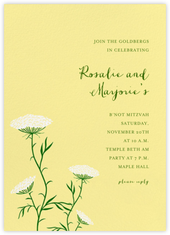 Queen Anne's Lace (Tall) - Pale Yellow - Paperless Post -
