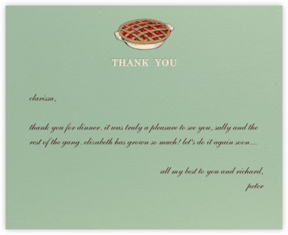 Thank You Sweetly - Sage - Paperless Post -