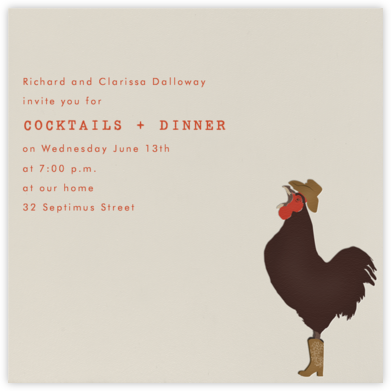 Rooster - Paperless Post - Barbecue and picnic invitations