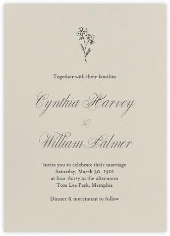 Santa Fe (Tall Invitation) - Paperless Post - Online Wedding Invitations