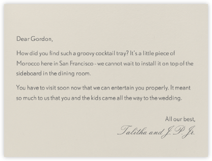 Santa Fe - Paperless Post - Wedding thank you notes