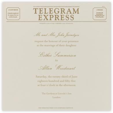 Travel - Cream and Sepia Telegram - Paperless Post -