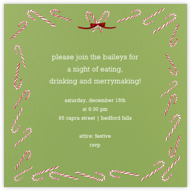 Candy cane (Sapling Square) - Paperless Post -