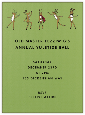 Reindeer Gala (Sapling) - Paperless Post - Holiday invitations