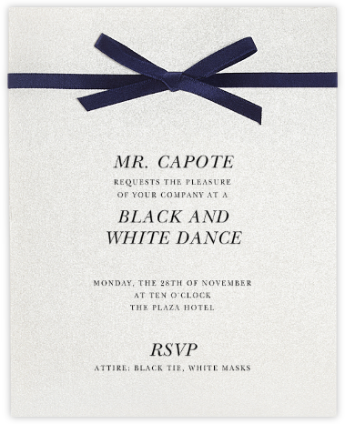 Halston - Paperless Post - Viewing Party Invitations