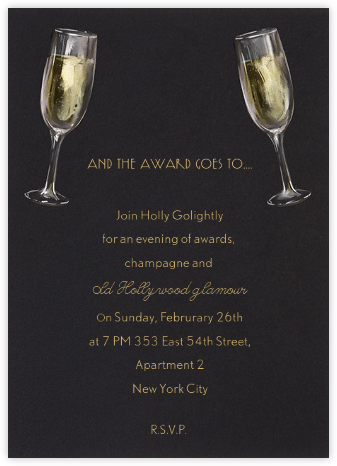 Champagne Glasses - Paperless Post - Viewing Party Invitations