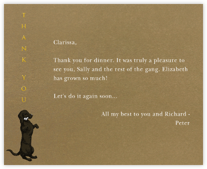 Dachshund Thanks (Tabac) - Paperless Post - General thank you notes