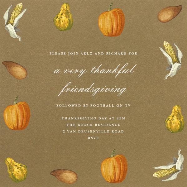 Thanksgiving Food - Paperless Post - Thanksgiving invitations