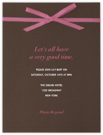 Ganache - Paperless Post - Invitations