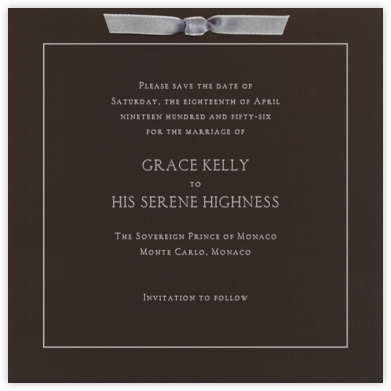 Valrhona Dove Gray - Paperless Post - Invitations