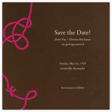 Wedding Knot (Valrhona) - Paperless Post - Engagement party invitations