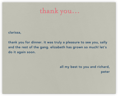 Casual Thanks (Coral) - Paperless Post - Kids' thank you notes