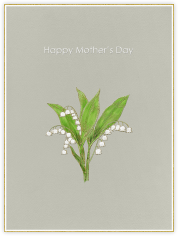 Lily of the Valley (Warm Gray) - Paperless Post -