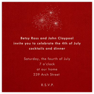 Cardinal (Square) - Paperless Post - 4th of July invitations