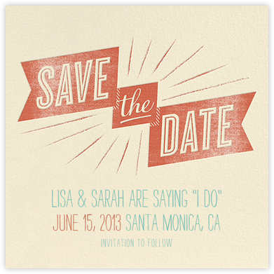 Ribbon Glee - Blood Orange - Crate & Barrel - Save the dates