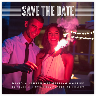 Bar Lines - Crate & Barrel - Save the dates