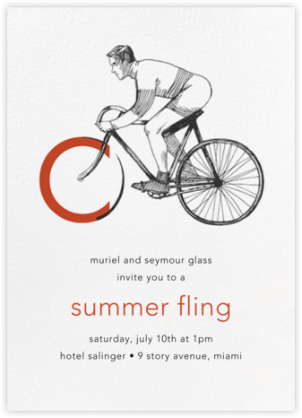 Vintage Cyclist - Paperless Post - Summer entertaining invitations
