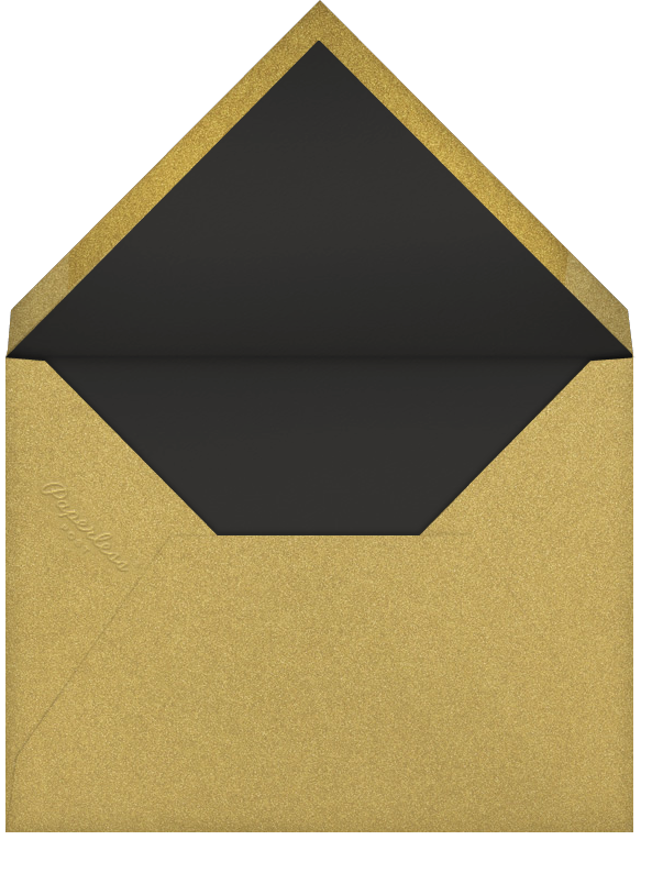 Golden Pineapple - Black - Paperless Post - Personalized stationery - envelope back