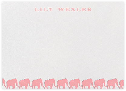 Pink Elephants Horizontal - Paperless Post - Baby and kids' stationery