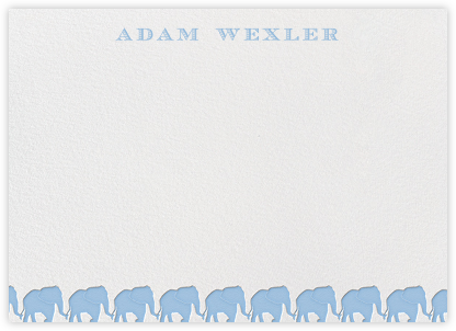 Blue Elephants Horizontal - Paperless Post - Baby and kids' stationery