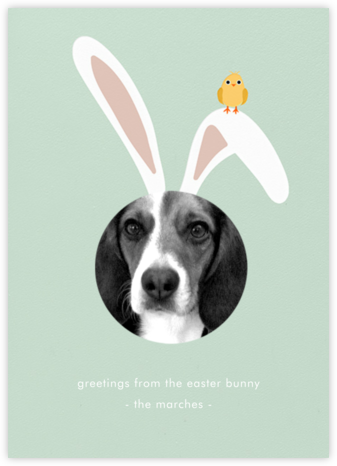 Bunny Ears - Mint - Paperless Post - Holiday cards