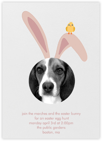 Bunny Ears - Ivory - Paperless Post - Easter invitations