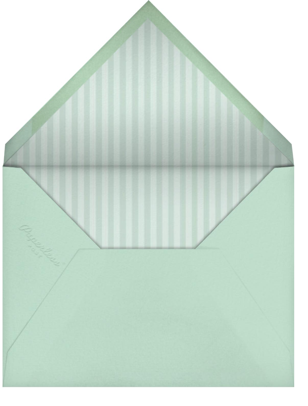 Bunny Ears - Mint - Paperless Post - Easter - envelope back